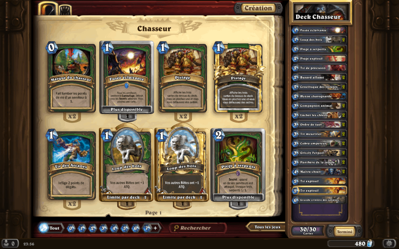 Deck Chasseur Hearthstone